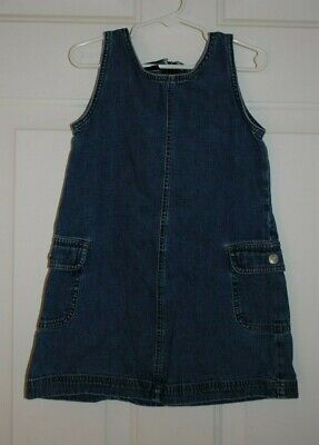 Little Girls Gap Blue Jean Denim Sleeveless Dress Size XS EUC](Denim Girls Dress)