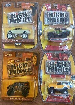 4pc Set 1/64 Jada HIGH PROFILE CAR MODEL DIE CAST COLLECTION