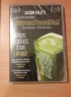 Jason Vale's Super Juice Me! (DVD, 2014) Documentary, New and Sealed (Juicing Documentary)