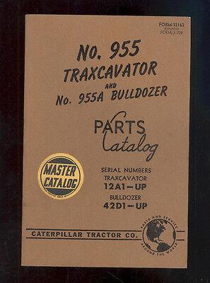1956 Caterpillar 955 Traxcavator 955a Bulldozer Parts Manual 12a1-up 42d1