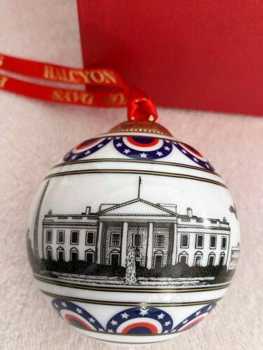 HALCYON DAYS Skyline Washngton DC Patriotic Bauble Ball Ornament England NiB