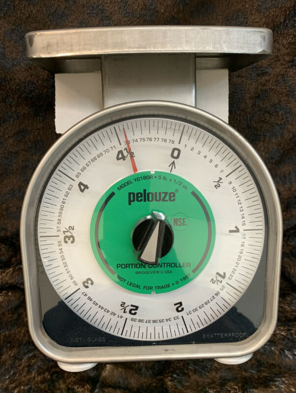 Vintage new Pelouze Food Scale 5 lb farm house green dial produce country decor