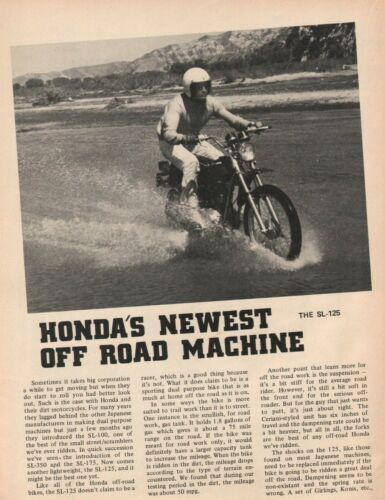 1971 Honda SL-125 - 4-Page Vintage Motorcycle Article
