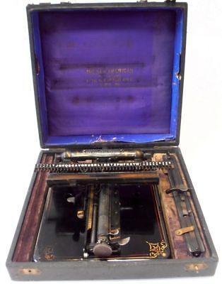 ANTIQUE rare typewriter NEW AMERICAN 5 index Macchina da scrivere circa 1906