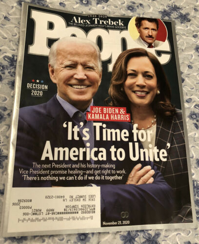 People Magazine November 2020 Joe Biden Kamala Harris Alex Trebek  - $3.00