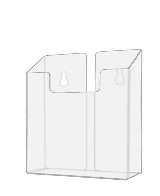 Clear Acrylic Brochure Holder For 6w Literature Wall Mountable