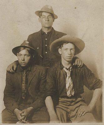 RPPC 1909 Three Ohio Men in Big Horn Mountains