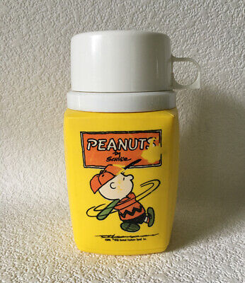Vintage PEANUTS THERMOS 8 oz. Charlie Brown 1950 Schulz King-Seeley Complete