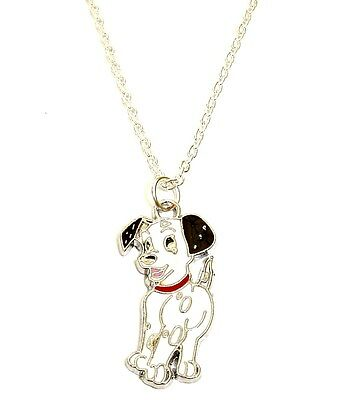 101 DALMATIANS DOG CHARM PENDANT NECKLACE IN GIFT BAG DALMATION PUPPY CUTE