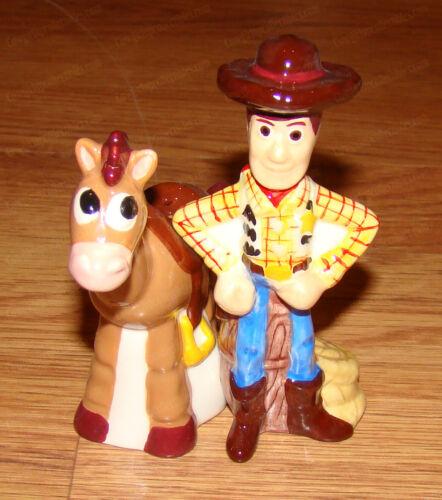 Woody & Bullseye Salt - Pepper Shakers (Walt Disney, Pixar by Westland 22802)
