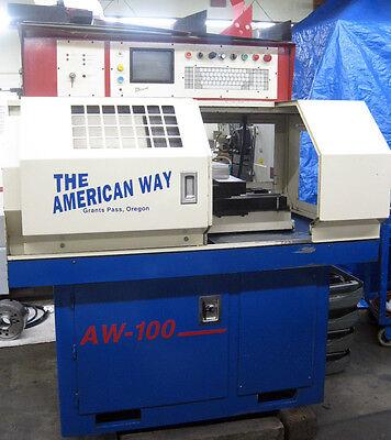 American Way Gang Tool Cnc Lathe W Omni Type Cnc Control Great Centroid Retrofit