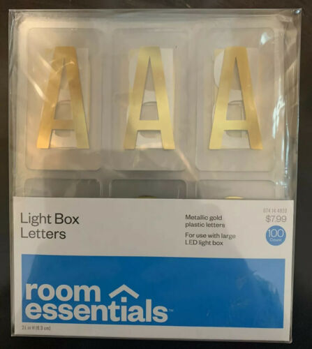 Room Essentials Color Changing LED Light Box Holiday Gold Le