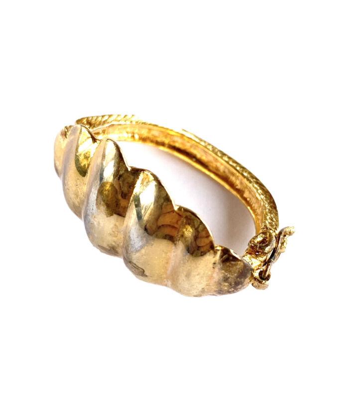 Vintage Estate Gold Vermeil Sterling Silver Scarf Clip Shrimp Ring Jewelry 1950s