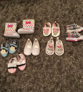 Baby girl shoes for 0-3 Months old  - $3 each or all for 15