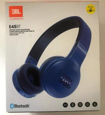 JBL E45BT Wireless, Foldable, Bluetooth On-Ear Headphones - Blue