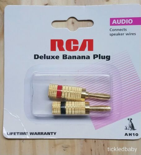 RCA Audio Connector - 2 Pack - Banana Plug Male - Gold-plate