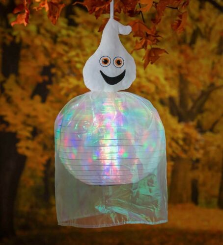 NEW BEAMING BUDDIES COLLAPSIBLE GHOST HALLOWEEN LANTERN INDOOR/OUTDOOR LED PRISM