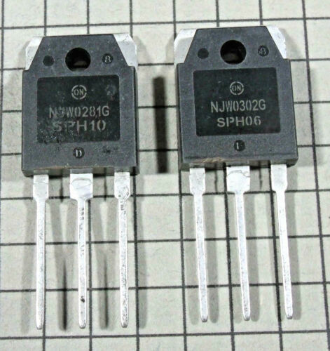 NJW0302G & NJW0281G : TO-3P : 1 pair ( 1 each )