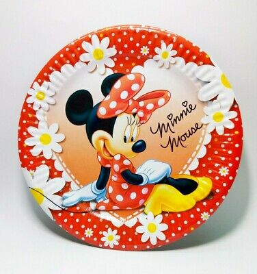 Minnie Mouse Party Plates Party Supplies Plates Set of 10 Dessert Plates ](Red Minnie Mouse Plates)