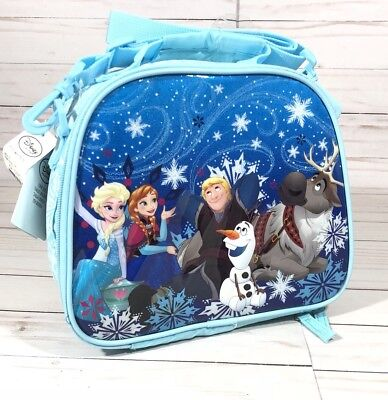 Disney FROZEN  Lunch Box School ALL characters LIGHT BLUE NWT