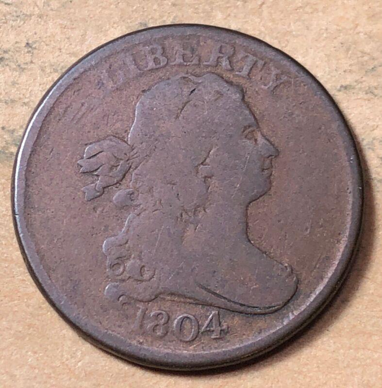 1804 Draped Bust Half Cent  VG   Very Good