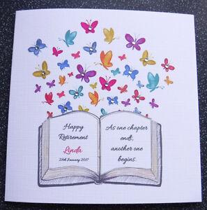 HANDMADE PERSONALISED RETIREMENT CARD,RETIREMENT BOOK