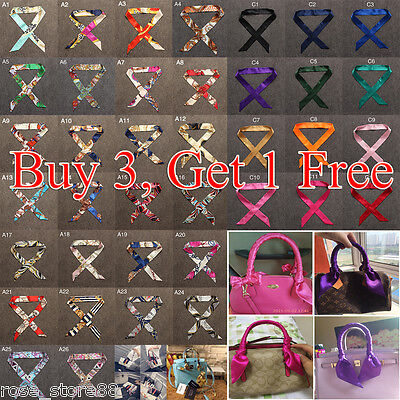 (Fashion Women Scarves Twilly Ribbon Tied The Bag Handle Decoration Ribbon Scarf)