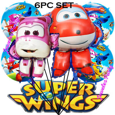6PC SUPERWINGS CUSTOM ORDER BALLOONS + BANNER