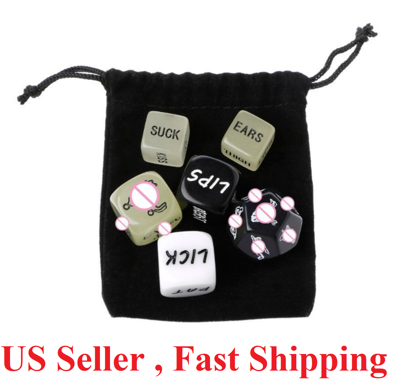 6X Adult Love Dice Sexy Position Funny Game Foreplay Toy Set Lover Bachelor NEW Games