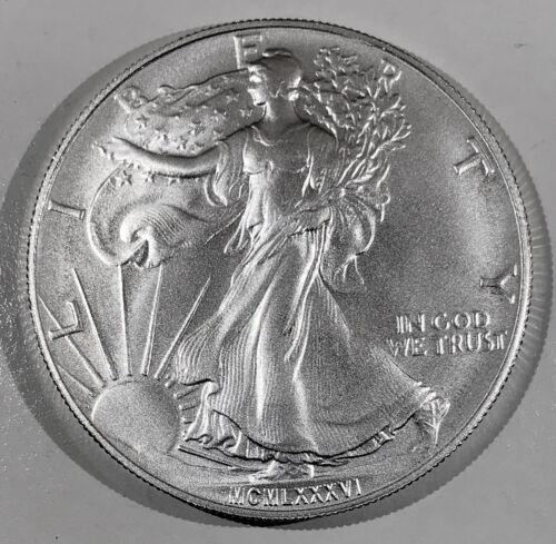 MCMLXXXVI-DC 1986 Satin American Silver Eagle Weinman Rev Daniel Carr RARE! /1
