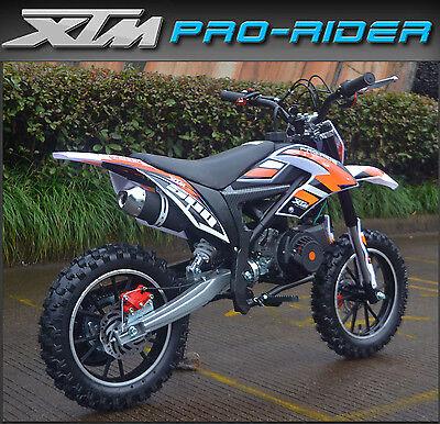 XTREME XTM 50CC PRO-RIDER Petrol Dirt Bike Child Mini Motorbike Motocross Orange