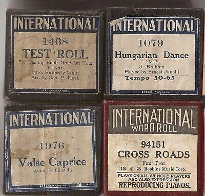 Pianola Rolls International x4 Tester. Foxtrot. Rubinstein. Brahms.