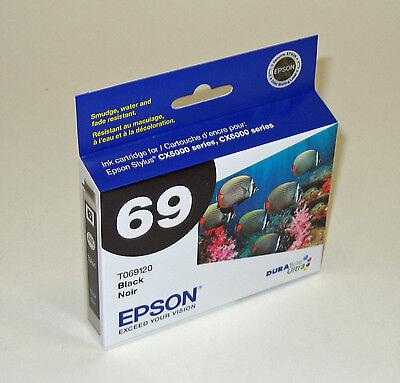 Epson 69 T0691 Black Ink Stylus Cx8400 Cx9400fax Cx9475fa...