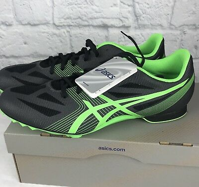 096142a65fd067 ASICS Men s Hyper MD 6 Track Running Shoes Charcoal Flash Green Box No  Spikes 13