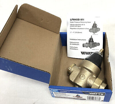 Watts Water Pressure Reducing Valve 34 Lfn45bm1-u New 25 To 75psi Lead Free