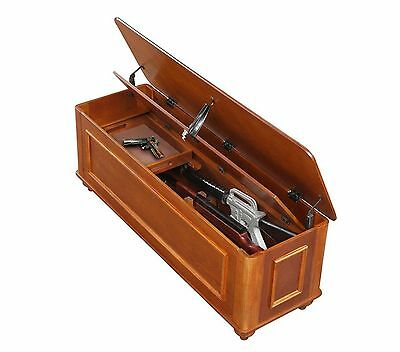 Gun Storage Concealment Hope Chest Cabinet Safe Ottoman Firearm Rifle  Furniture
