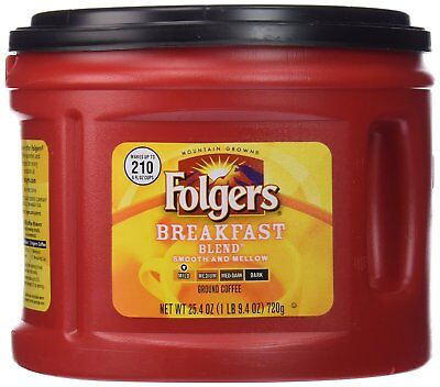FOLGERS BREAKFAST BLEND GROUND COFFEE MILD ROAST 25.4OZ