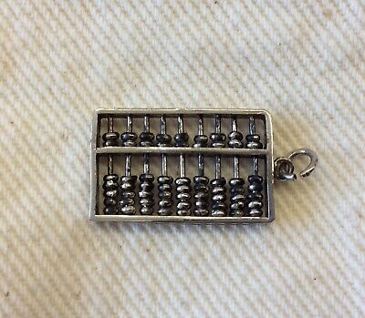 Too Cute!!! 925 Sterling Silver Abacus Charm