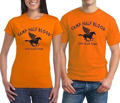 Camp Half Blood T-shirt Percy Jackson Demigods Olympian Halloween Costume Shirts](Percy Halloween Costume)
