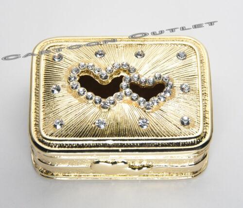 WEDDING CEREMONY GOLD BOX ARRAS DE BODA 13 UNITY COINS Hearts ARRAS CHEST 763