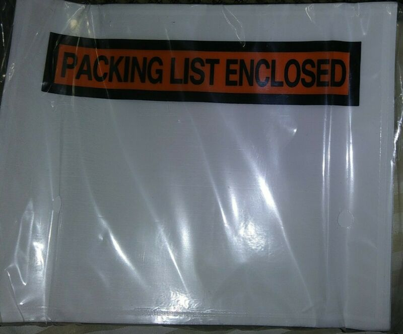 "100 count Packing List Clear Envelopes Pouch Self Adhesive Shipping 4.5"" x 5.75"""