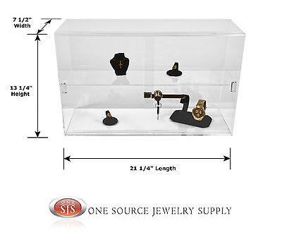 Counter Top Display Case Acrylic Display Showcase Display Sliding Door Case