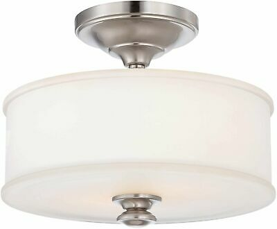 Minka-Lavery 4172-84 Harbour Point Semi-Flush Mounts Brushed