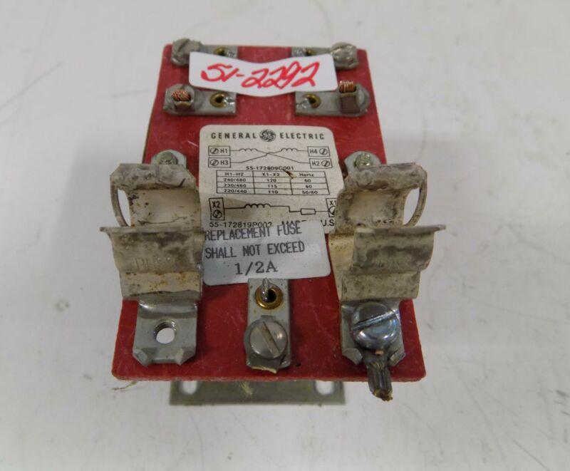 GENERAL ELECTRIC TRANSFORMER 55-172809G003