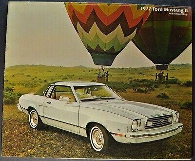 1974 Ford Mustang II Hardtop Ghia 2+2 Mach I Vintage Dealer Sales Brochure