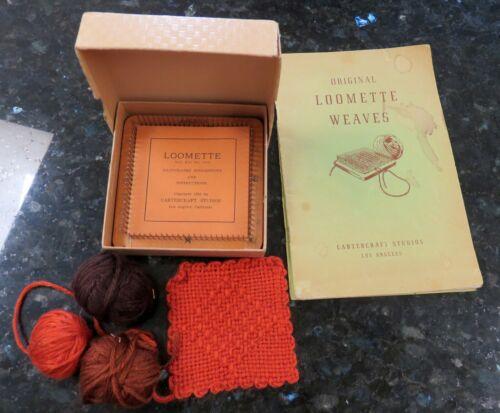 Vintage 1936 LOOMETTE Weaving Loom ~ Cartercraft ~ w/Instruction Booklets & Box