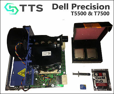 12 Core DELL Precision T5500,T7500 x5690 3.46GHz XEON CPUs and 2nd CPU Riser kit, used for sale  Shipping to Canada