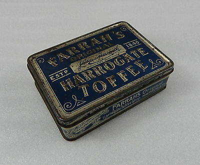 Antique Farrahs Original Harrogate Toffee tin 12cm x8.5cmx3.5cm