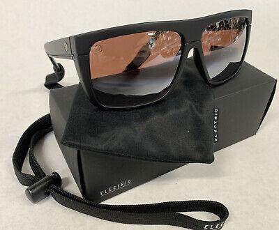 NEW Electric Black Top Black Rose Grad. Silver Mens Rectangle Sunglasses (Grad Sunglasses)