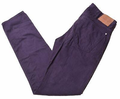 PAUL SMITH Mens Jeans W30 L31 Purple Cotton Slim  IK16